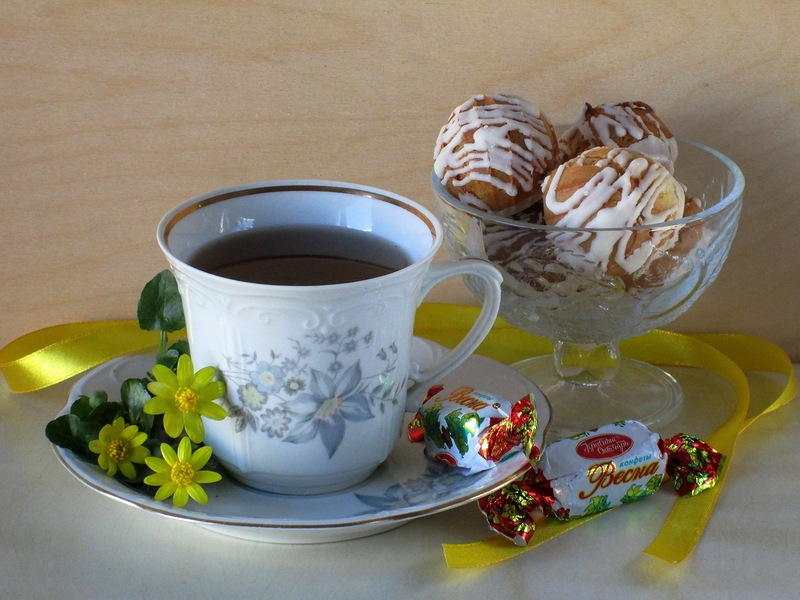 Кофе с конфетами открытки