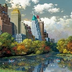 Пазл онлайн: Нью-Йорк. Центральный парк