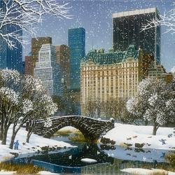 Пазл онлайн: Центральный парк зимой