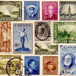 Пазл онлайн: Марки Канады