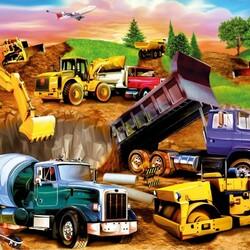 Пазл онлайн: Строительные машины