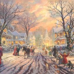 Пазл онлайн: Викторианский рождественский гимн