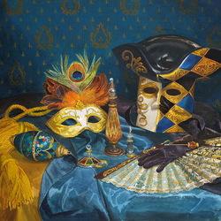 Пазл онлайн: Веер и венецианская маска