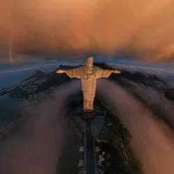 Пазл онлайн: Статуя Христа Искупителя, Рио-де-Жанейро, Бразилия
