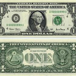 Пазл онлайн: Один доллар