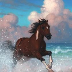 Пазл онлайн: Бегущий по волнам