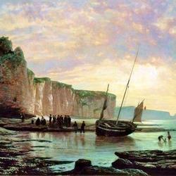 Пазл онлайн: Нормандский берег