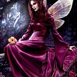 Пазл онлайн: Грустная фея
