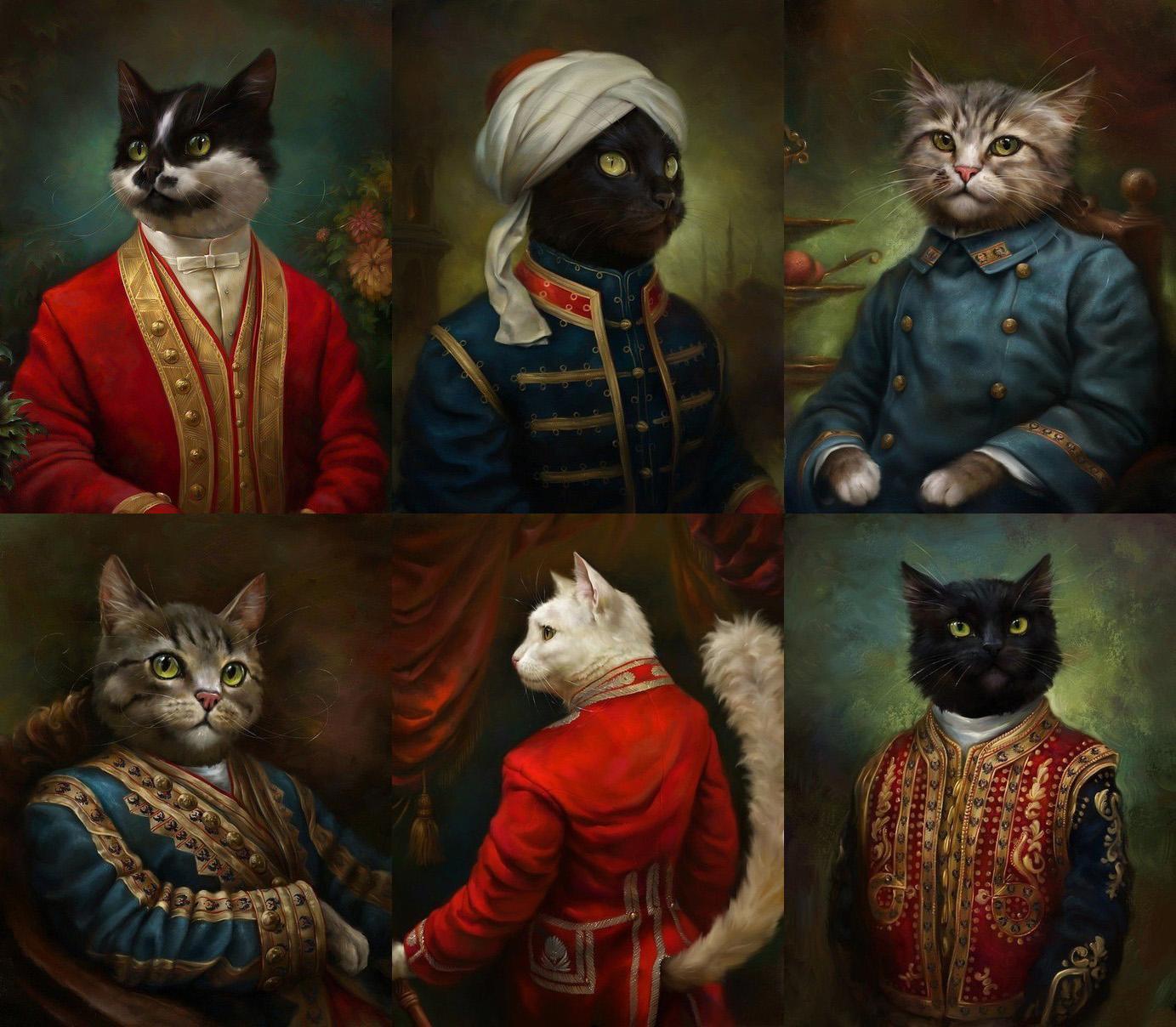Коты эрмитажа открытки 11
