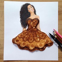Пазл онлайн: Платье из блина