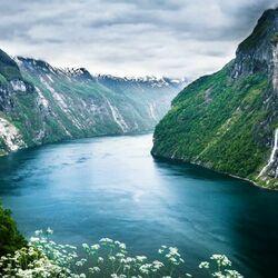 Пазл онлайн: Фьорды Норвегии