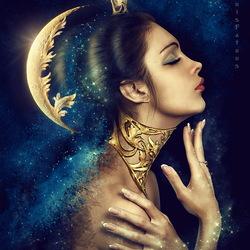 Пазл онлайн: Леди-луна