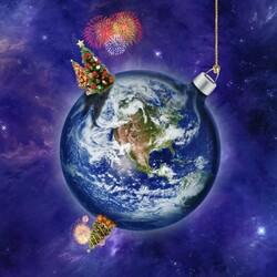 Пазл онлайн: Земной шар