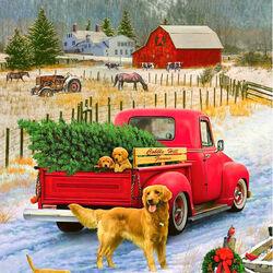 Пазл онлайн: Рождество на ферме