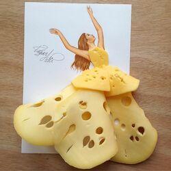 Пазл онлайн: Сырная Королева