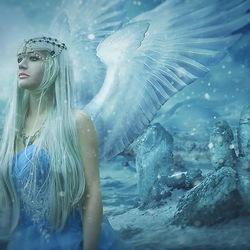 Пазл онлайн: Зимний ангел