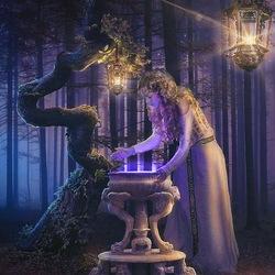 Пазл онлайн: Магия появляется с наступлением темноты