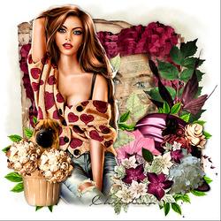 Пазл онлайн: Цветочный