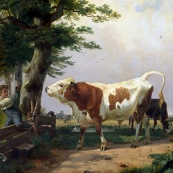 Пазл онлайн:  Взбесившийся бык