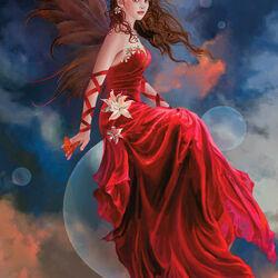 Пазл онлайн: Темно-красная лилия