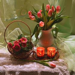 Пазл онлайн: Вечер при свечах
