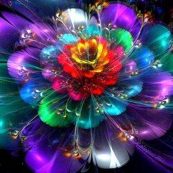 Пазл онлайн: Фрактальный цветок