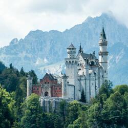 Пазл онлайн: Замок Нойшванштайн, Германия.