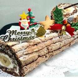 Пазл онлайн: «Рождественское полено»