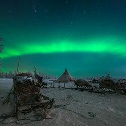 Пазл онлайн: Зимней ночью