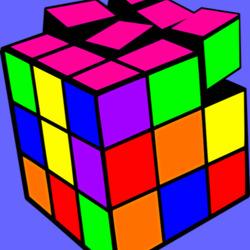 Пазл онлайн: Кубик Рубика