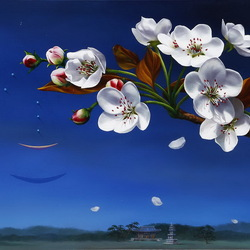 Пазл онлайн: Цветение яблони
