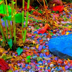 Пазл онлайн: Цветные камни