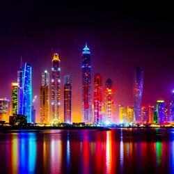 Пазл онлайн: Дубаи ночью