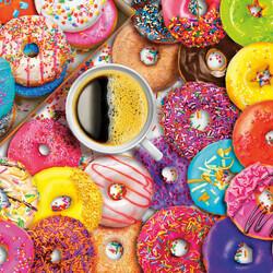 Пазл онлайн: Кофе и донатсы
