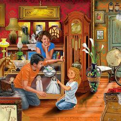 Пазл онлайн: В антикварном магазине