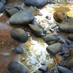 Пазл онлайн: Вода и камни