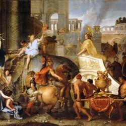Пазл онлайн: Триумфальный въезд Александра в Вавилон