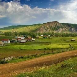 Пазл онлайн: Уральская деревенька
