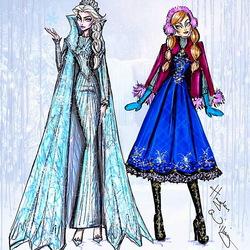 Пазл онлайн:  Эльза и Анна