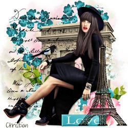 Пазл онлайн: Любовь в Париже