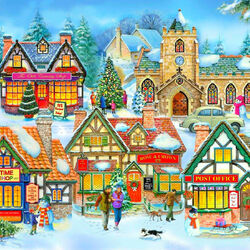 Пазл онлайн: Праздничный городок