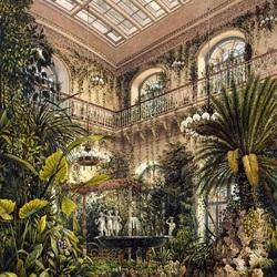 Пазл онлайн: Зимний сад императрицы Александры Федоровны