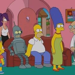 Пазл онлайн: Симпсоны и Футурама