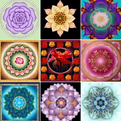 Пазл онлайн: Мандала - цветок
