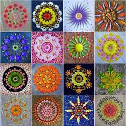 Пазл онлайн: Цветочная мандала