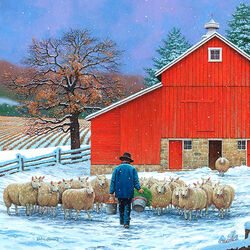 Пазл онлайн: Овечья ферма