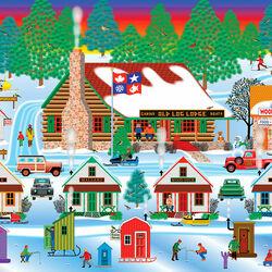 Пазл онлайн: Зима на побережье