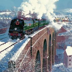 Пазл онлайн: Железнодорожный мост