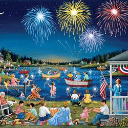 Пазл онлайн: На озере 4 июля