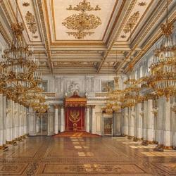 Пазл онлайн: Георгиевский тронный зал
